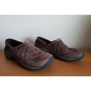 Women's Merrell Brown Suede Slip on Loafer Flats